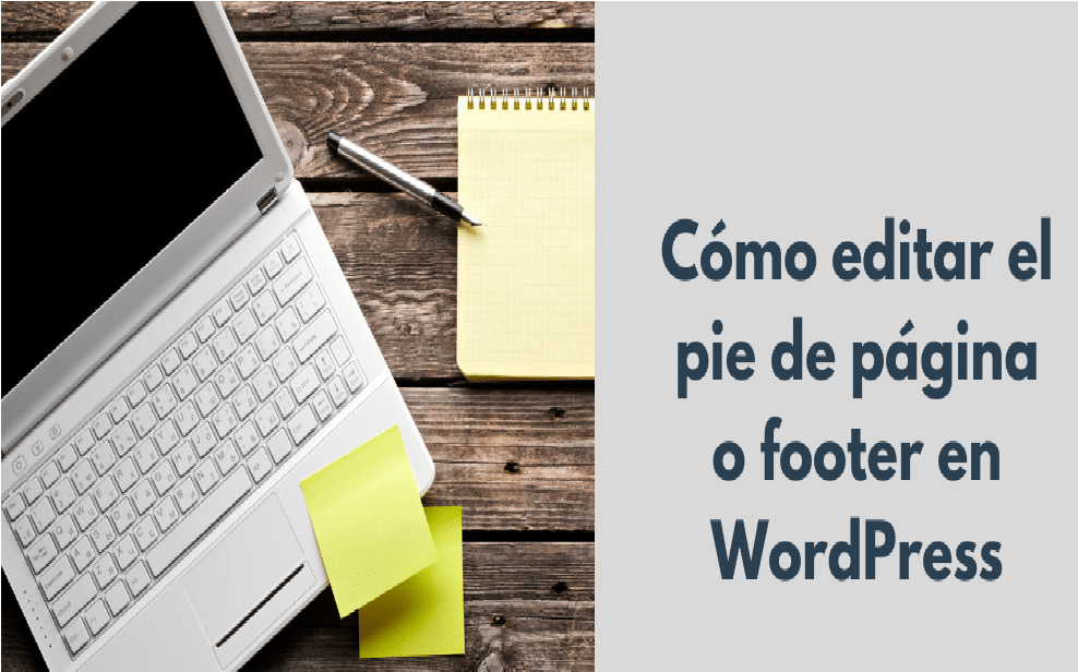 Editar un pie de página en WordPress