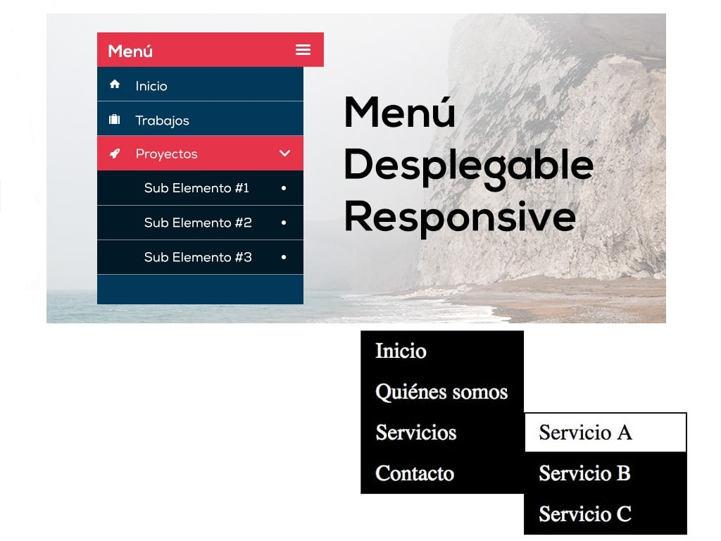 crear menú desplegable WordPress
